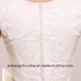 Fecho de cor branca sem mangas Ankle-Length Esposa Meninas Bridesmaid Dress