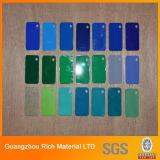 Panel acrílico de color del panel de plexiglás de plástico de PMMA