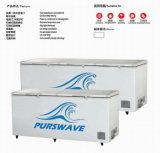 Purswave 1000L DC24V48V220V110V Congelador solar Compressor de bateria Refrigeração