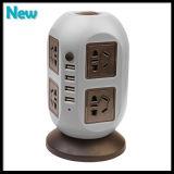 Bande d'alimentation verticale universelle 8 prises avec disjoncteur Home Office Surtension Protecteur Tension Prise électrique Prise multiple avec 4 USB