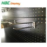 Armazenamento de Hardware Exibir Estante com ganchos de metal