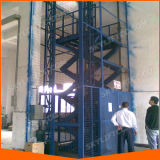 هيدروليّة [غيد ريل] كهربائيّة أرضيّة مصعد لأنّ يرفع بضائع شحن