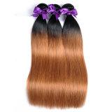 """I gruppi diritti dei capelli umani di colore 1b/30 100% del tessuto dei capelli delle donne dei capelli brasiliani con chiusura liberano il trasporto 16 """""""
