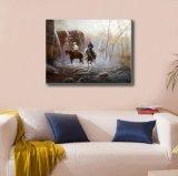 Peinture d'huile de trois cow-boys