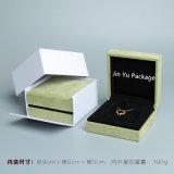 La mano de fábrica hizo la caja de presentación a mano de empaquetado de la joyería plástica ciánica del regalo