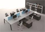 4 sièges ouvrent la partition blanche moderne de poste de travail de bureau (SZ-WS54)