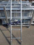 熱いすくいの電流を通されたRinglock Cuplockの鋼鉄梯子はかっこに入れる足場(CLWB)を
