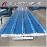 上塗を施してある波形の屋根ふきの鋼板を着色しなさい