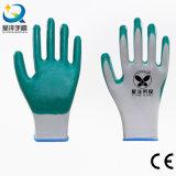 les nitriles en nylon de l'interpréteur de commandes interactif 13gauge ont enduit les gants de travail de sûreté (N6020)