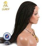 PU 실크 최고 가발 곱슬 머리 레이스 정면 가발 머리 가발 합성 물질