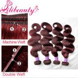 Разные виды волосы девственницы вязания крючком Weave Peruvian Burgundy
