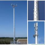 Types autosuffisants de tour tubulaire simple de télécommunications