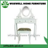 ミラー(W-LZ-509)のない腰掛けが付いている木製の化粧台