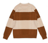 Basolan Wool Acrylic Winter Round Neck Cable Knitting Sweater für Men