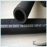 Boyau R1at/1sn en caoutchouc hydraulique de SAE100 fabriqué en Chine