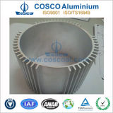 Dissipateur de chaleur en aluminium anodisé clair avec l'usinage CNC