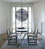 Moderno estilo italiano em aço inoxidável altamente brilhante de pé de mesa de madeira