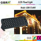 2018 Al aire libre de alta potencia 60X3W LED cambia de color RGB de la luz de la arandela / Bañador de pared LED impermeable