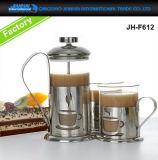 茶、コーヒーメーカーのためのステンレス鋼フレームのフランス人の出版物のガラス製品