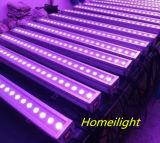 Lumière de rondelle de mur de W DEL de RVB 24 tricolore * 3 pour la boîte de nuit