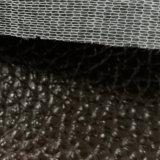 SGSの金の証明のポン丁のLitchiパターンPVCレザーの荷物の革PVC革