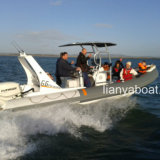 Vendita gonfiabile della guardacoste della barca di potere 150HP di Liya 22ft