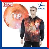 Diseño personalizado Abrigo Cool sublimación patrón Hoody chaqueta de hombre