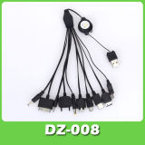 10 В 1 Универсальный складной зарядное устройство USB кабель для мобильного телефона