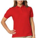 Destacamos mujeres de la calidad camisa lisa de algodón Polo
