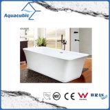 Banheiro Banheira de acrílico branca de corpo livre (AB1552W)