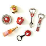 Magnete creativo del frigorifero apri di bottiglia del metallo della Svizzera per promozionale