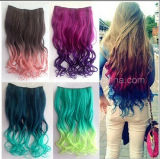 Hair Extensionの2015新しいFashion Ombre Rainbow Color Clip
