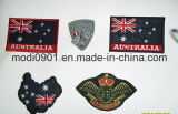 Die Cut Shape Customized Embroidered Patch e Slim Embroidery Badge for School Uniform ou Soldier Uniform Flag Embroidery Logo
