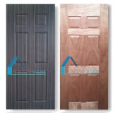 木製のベニヤが付いている形成された深く10mmの合板のドアのパネルの皮