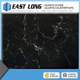 Partie supérieure du comptoir de pierre de quartz de qualité/dessus colorés de Tableau de quartz coupure de coutume