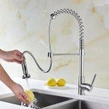 Faucet кухни, почищенная щеткой нержавеющая сталь вытягивает вне Faucet кухни спрейера