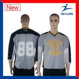 Desgaste do esporte de Jersey do hóquei do gelo da impressão das camisas do Sublimation