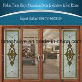 Алюминиевое изготовление двери с хорошим качеством и проверкой TUV приобъектной