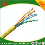 Cabo de LAN do revestimento UTP Cat5e de LSZH/cabo da rede com Ce RoHS ISO9001