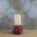 Cor da luz de vela de vidro xícara de chá/Vela Votiva titular de vidro