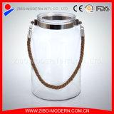 Populärer Glaskerze-Halter mit beweglichem Seil