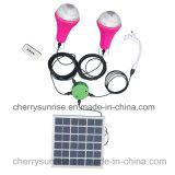 Набор системы портативного домашнего солнечного набора освещения DC Solar Energy с кабелем USB