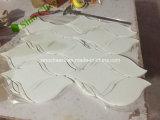 손전등 그리스 Thassos Residental 실내 디자인 벽을%s 백색 대리석 돌 모자이크 Backsplash 도와