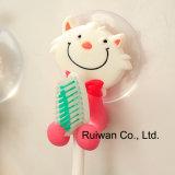 Support en caoutchouc de brosse à dents de PVC de conception animale pour des enfants
