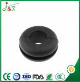 Grommet noir en caoutchouc noir pour câbles et câbles de passage