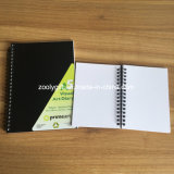 A5 Carnet d'agenda d'art visuel A6 Double spirale PP Couverture Blank Notebook