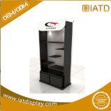 Étalage en bois de mémoire de Pegboard de fileur de lunetterie d'étage pour la caisse de portable d'écran/chargeur