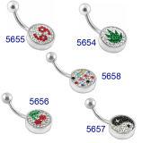 De multi-Gemmen van uitstekende kwaliteit met Ringen van de Navel van de Ballen van het Embleem de Trillende