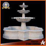 Fontana grigia del granito della caratteristica dell'acqua per la decorazione del giardino