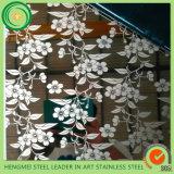 Chapa de aço inoxidável Textured revestida de 304 titânios para o projeto Constrution